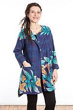 Crew Neck Pocket Jacket #8 by Mieko Mintz  (One Size (2-10), Cotton Jacket)