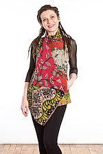 Drape Collar Vest #2 by Mieko Mintz  (One Size (2-12), Cotton Vest)