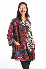 Back Tuck Jacket #1 by Mieko Mintz  (One Size (0-8), Cotton Jacket)