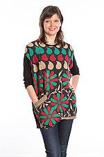 Crew Neck Pocket Tunic #5 by Mieko Mintz  (One Size (2-14), Cotton/Rayon Tunic)