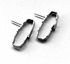 Cosmos Earrings #29 by Jennifer Bauser (Silver Earrings)