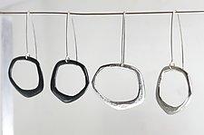 Organica Pendulum Dangles 2 by Jennifer Bauser (Silver Earrings)