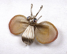 Bee Brooch by Sarah Cavender (Metal Brooch)