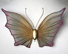 Medium Mesh Butterfly by Sarah Cavender (Metal Brooch)