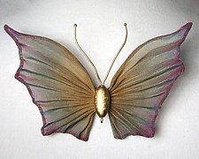 Medium Mesh Butterfly by Sarah Cavender (Metal Brooch)