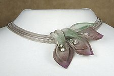 Lily of the Valley Necklace by Sarah Cavender (Metal Necklace)