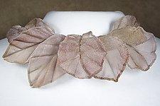 Oak and Elm Leaf Collage Necklace by Sarah Cavender (Metal Necklace)