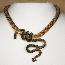 Snake Wrap Necklace by Sarah Cavender (Metal Necklace)