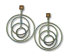 Spinning Hoop Earrings by Sarah Cavender (Metal Earrings)