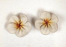 Plumeria Blossom Earrings by Sarah Cavender (Metal Earrings)