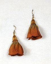 Plumeria Bud Earring by Sarah Cavender (Metal Earrings)