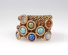 Twisted Wire Band Stacking Rings by Sarah Cavender (Brass & Stone Rings)