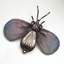 Bee Brooch by Sarah Cavender (Metal Brooch)
