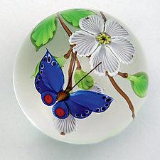 Spring Flower Paperweight by Mayauel Ward (Art Glass Paperweight)
