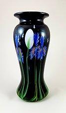 Midnight Iris Vase by Mayauel Ward (Art Glass Vase)
