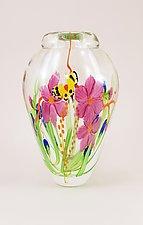 Clear Bouquet Vase by Mayauel Ward (Art Glass Vase)