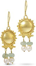 22k Gold Roman Earrings by Nancy Troske (Gold & Stone Earrings)