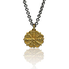 Ancient Inspired Rosette Necklace by Nancy Troske (Gold & Silver Necklace)