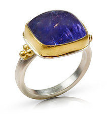 Tanzanite Rectangle Ring by Nancy Troske (Gold, Silver & Stone Ring)