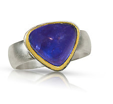 Heart Tanzanite Ring by Nancy Troske (Gold, Silver & Stone Ring)