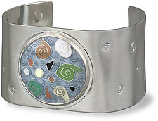 Tide Pool Cloisonne Cuff by Nancy Troske (Enameled Bracelet)