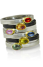 Light and Shadow Rings by Nancy Troske (Gold, Silver & Stone Ring)