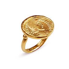 Roman Emperor Ring by Nancy Troske (Gold Ring)