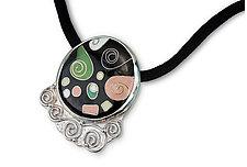 Spiral Nebula Necklace by Nancy Troske (Enameled Necklace)