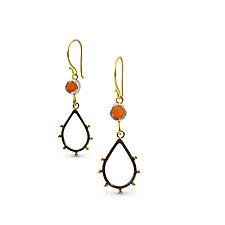 Spark and Fire Earrings by Nancy Troske (Gold, Silver & Stone Earrings)