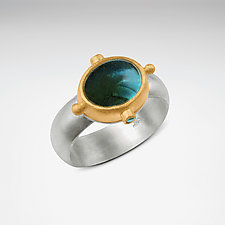 Moonshadow Ring by Nancy Troske (Gold, Silver & Stone Ring)