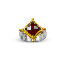 Renaissance Ring in Garnet by Nancy Troske (Gold, Silver & Stone Ring)