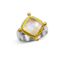 Renaissance Ring in Moonstone by Nancy Troske (Gold, Silver & Stone Ring)