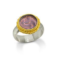 Pegasus by Nancy Troske (Gold, Silver & Glass Ring)