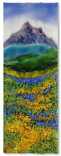 Mountain Meadow by Anne Nye (Art Glass Wall Sculpture)
