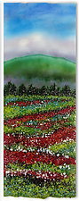 South Slope Poppy Fields by Anne Nye (Art Glass Wall Sculpture)