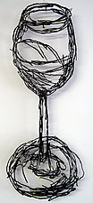 Wineglass by Paul Arsenault (Metal Wall Sculpture)