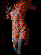 She Wears Fire in the Dark by Michael Williams (Color Photograph)