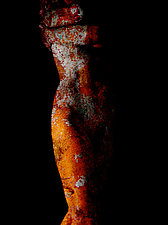 Nude with Orange Patina by Michael Williams (Color Photograph)