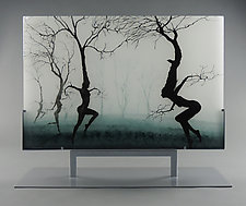 Dancers in the Mist by Paul Messink (Art Glass Sculpture)