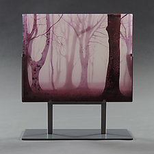Misty Morning by Paul Messink (Art Glass Sculpture)