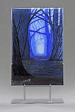 Tunnel in the Trees by Paul Messink (Art Glass Sculpture)