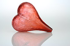 Blown Glass Hearts by Tom Bloyd (Art Glass Sculpture)