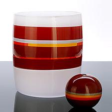 Vintage Opal Cylinder by Benjamin Silver (Art Glass Vessel)