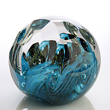 Ocean's Reef by Benjamin Silver (Art Glass Paperweight)