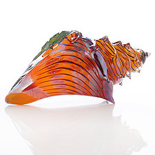 Coral Sea Shell by Benjamin Silver (Art Glass Sculpture)