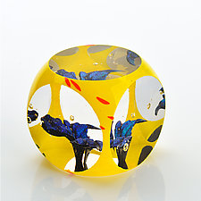 Comic Hero by Benjamin Silver (Art Glass Paperweight)