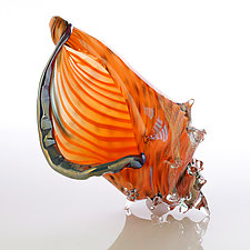 Islander Shell by Benjamin Silver (Art Glass Sculpture)