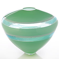 Mint by Benjamin Silver (Art Glass Vase)