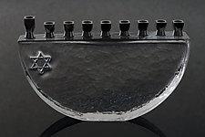 Hanukkah Menorah by Benjamin Silver (Art Glass Menorah)