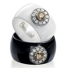 Ceramique Daisy Diamond Ring by Etienne Perret (Ceramic & Stone Ring)